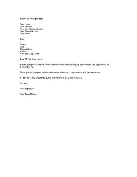 6 sample resignation letter two weeks notice resignition letter