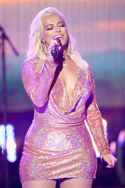 new year 2018 in los angeles bebe rexha performs at the clark s new year s