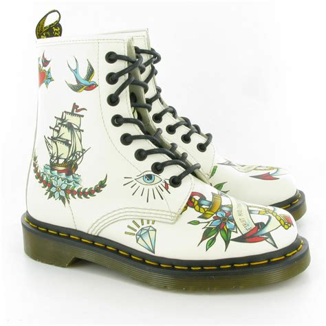 tattoo pattern doc martens dr martens louie lace ankle boots in tattoo