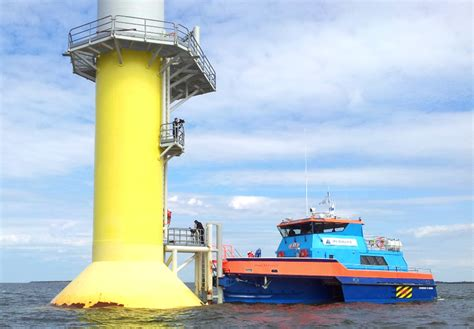 boat landing wind turbine offshore wind farm service and crew transfer mobimar
