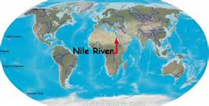 Nile River On World Map by Nile River