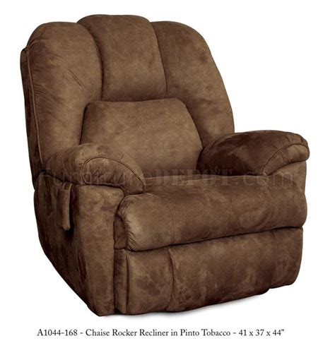 modern rocker recliner tobacco fabric modern parachute pull chaise rocker recliner