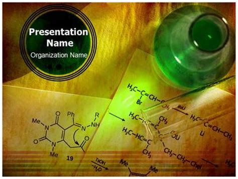 Organic Chemistry Powerpoint Template Background Subscriptiontemplates Com Powerpoint Templates Chemistry Free