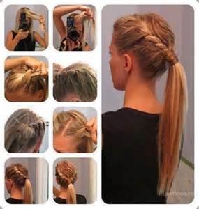 easiest type of diy hair braiding diy braid ponytail hair ponytail diy braid diy crafts do