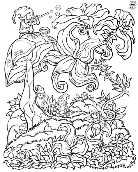 floral fantasy digital version adult coloring book