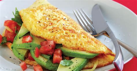cottage cheese omelette tomato cheese and avocado omelette
