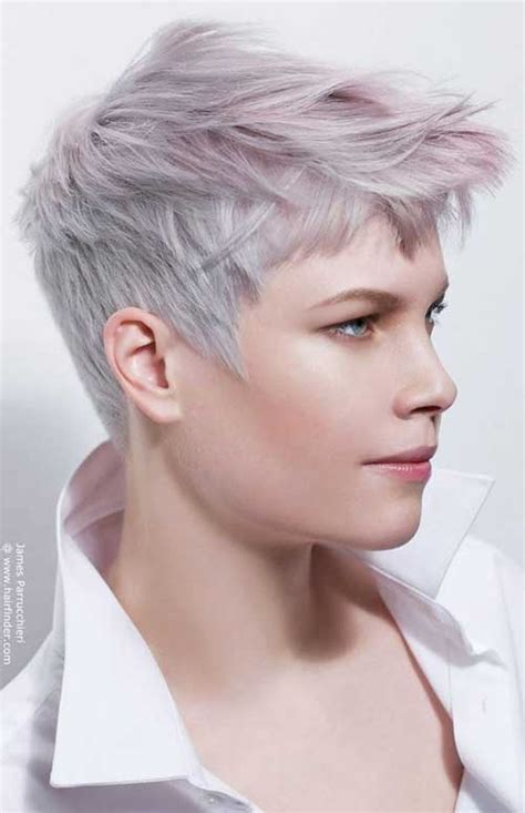 super short haircuts for women with gray hair super short hair ideas on pretty ladies short hairstyles