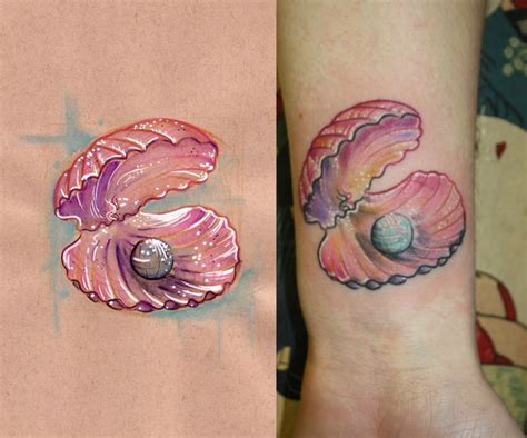 clam tattoo clam shell
