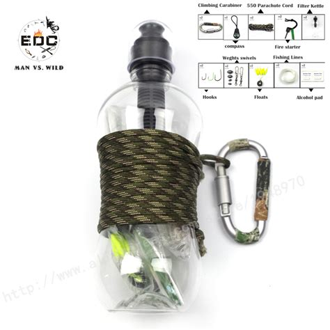 Emergency Gear Outdoor Survival Cing Hiking 8 In 1 Keychain Multi T edc 10 in1 self help outdoor cing hiking emergency survival gear activated carbon filter
