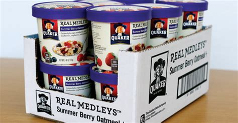 Shelf Ready Pack by Quaker Real Medleys Oatmeal S Shelf Ready Pack 2014 09