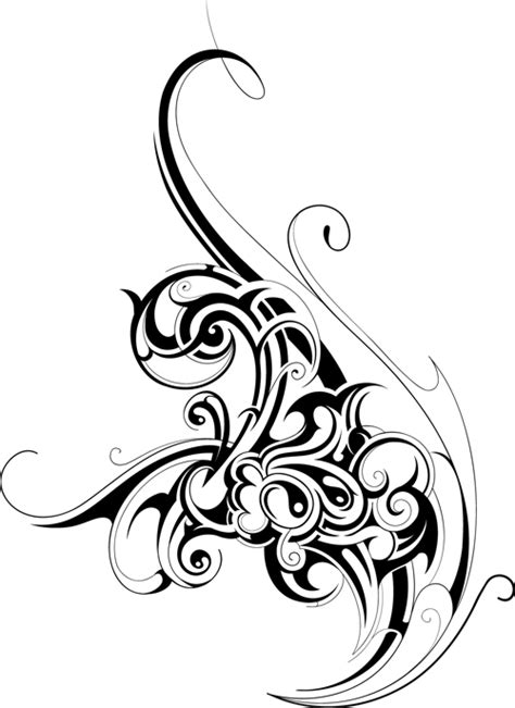 typography ornaments black tattoos ornaments design vector set 11 welovesolo