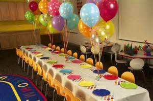Beautiful table decoration for a kids birthday party decoration