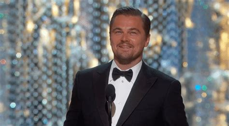happy gif happy leonardo dicaprio gif by the academy awards find on giphy