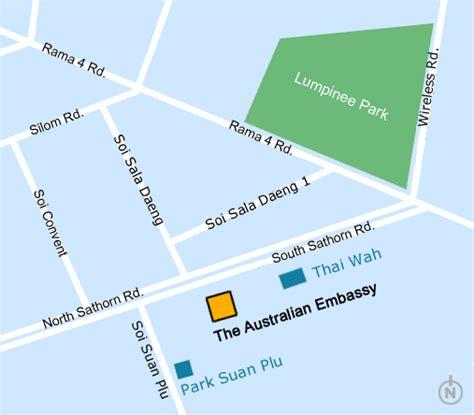 map us embassy bangkok about us map australian embassy