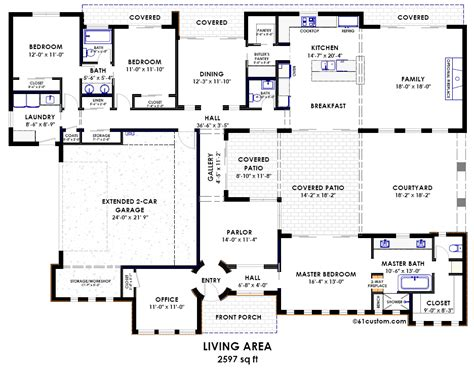 courtyard floor plans contemporary side courtyard plan