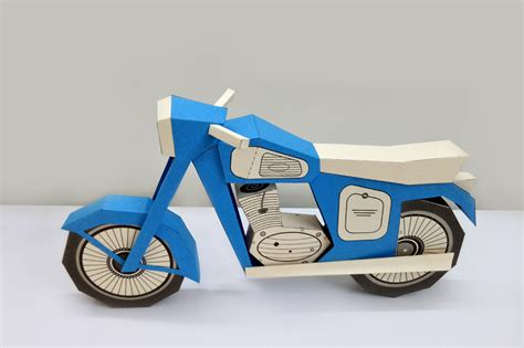 Papercraft Bike - diy vintage bike 3d papercraft by paper amaze