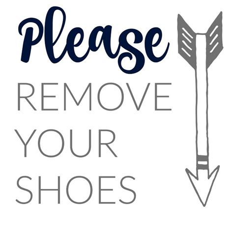 Remove Your Shoes Sign Printable tips to refresh your home for the holidays onekriegerchick