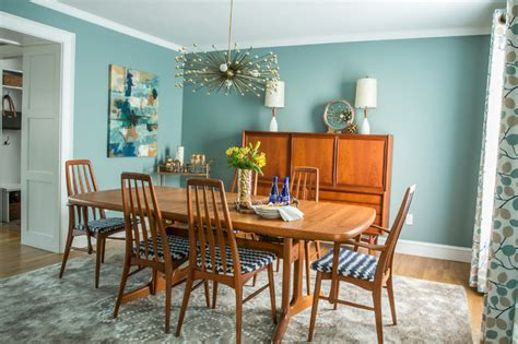 mid century modern dining room transitional dining