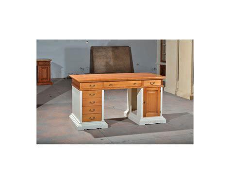 scrivania legno scrivania scrittorio legno massello finitura bicolore come