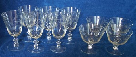 Glassware Stemware Vintage Cut Glass Wine Chagne Glasses And 47 Similar Items