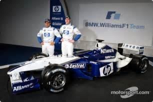 Wheels Williams F1 Fw23 Juan Pablo Montoya juan pablo montoya and ralf schumacher with the new bmw
