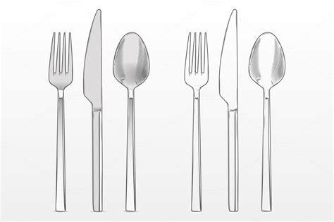 Restomart S S Knife Fork fork knife and spoon objects on creative market