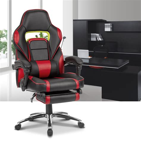 reclining gaming desk chair office desk leather executive racing gaming chair