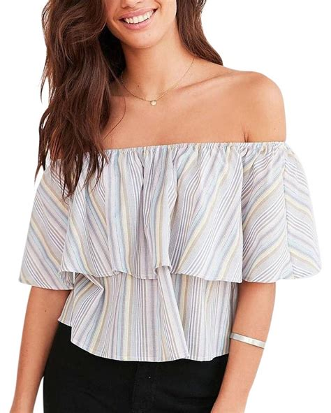 8 Tops By Kimchi Blue by Kimchi Blue Multicolor The Ruffle Top 41 Retail