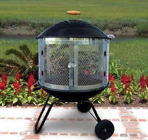 portable outdoor pit portable firepit outdoor patio yard wheeled pit