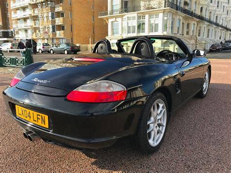 black porsche boxster convertible 2004 porsche boxster convertible black 4 side m cars
