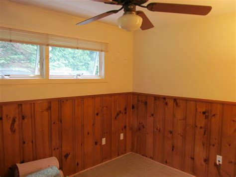 painting wood paneling ideas lovely beasts guest room makeover with painted wood paneling