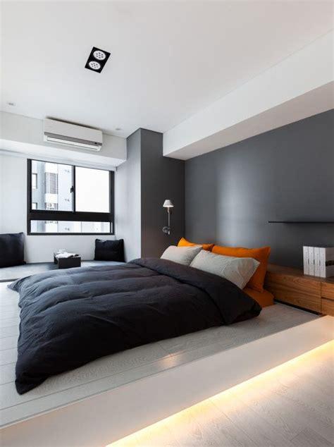 ideas decoracion minimalista en recamara tonos grises