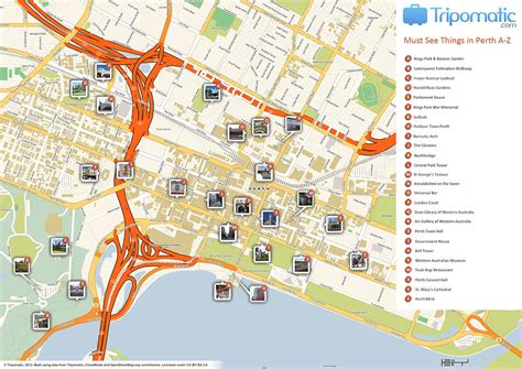 citylink nsw file perth printable tourist attractions map jpg