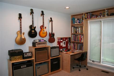 Guitar Room Ideas by Wall Hanging Guitars What Spacing The Gear Page