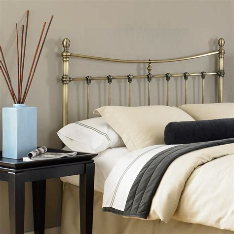 Headboards For California King Fashion Bed Leighton California King Size Metal Headboard With Rounded Posts And Scalloped