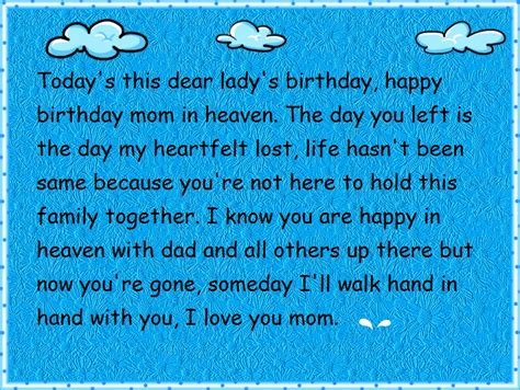 Happy Birthday Quotes For Someone In Heaven Happy Birthday Wishes