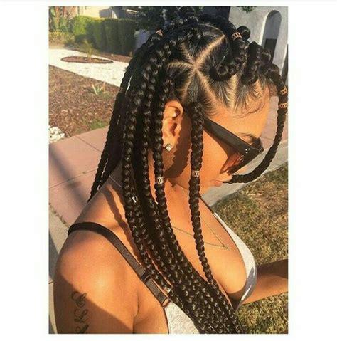 parting tutorial for braiding hair triangle part box braids hair pinterest triangles