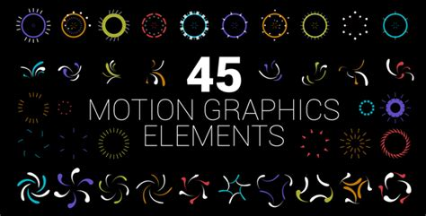 download template after effects motion graphics 45 motion graphics elements miscellaneous after effects