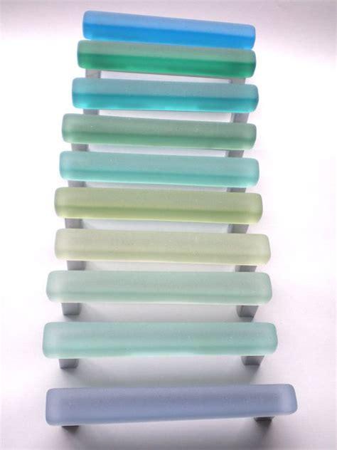 sea glass cabinet pulls glass pulls