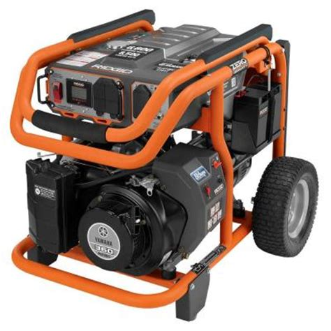 ridgid 6 800 watt idle gasoline powered electric