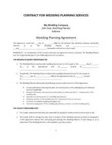 Sle Wedding Planner Contract by Agreement Word Templates Free Word Templates Ms Word Templates