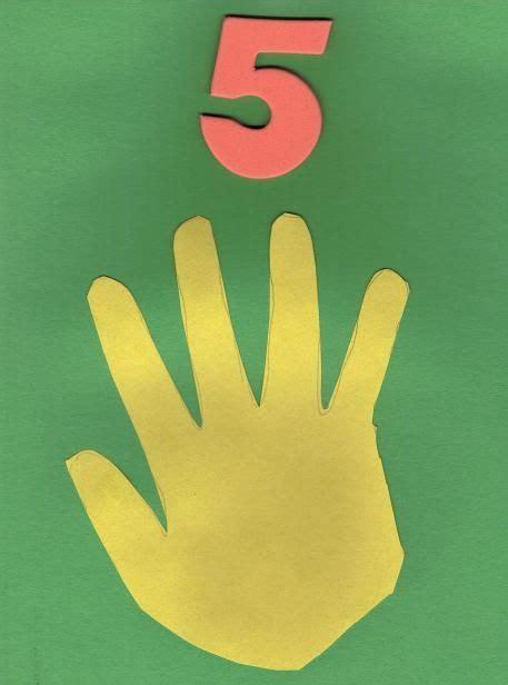 number craft for simple number 5 craft preschool