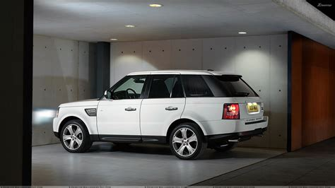 range rover white side pose of 2010 range rover sport in white wallpaper