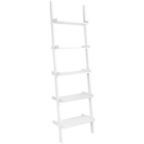 leaning ladder 5 shelf bookcase espresso 28 leaning ladder 5 shelf bookcase mainstays