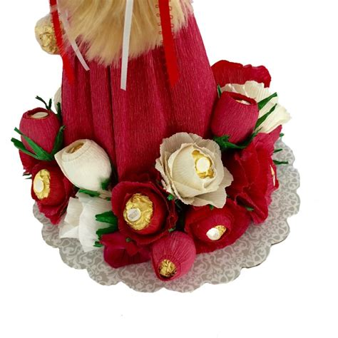 Handmade Confectionery - handmade doll gift made with ferrero chocolates