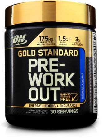 best pre workout gold standard pre workout by optimum nutrition at