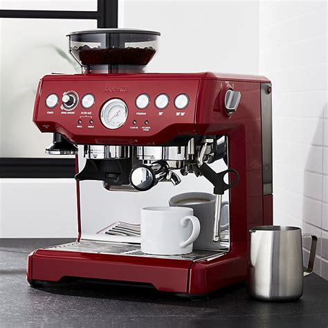 Breville ® Red Barista Express ? Espresso Machine   Crate and Barrel
