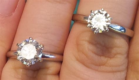 Moissanite VS Diamond (Pics & Video) :)   Weddingbee