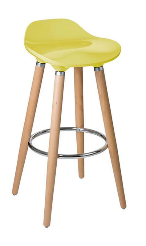 Fixed Height Kitchen Bar Stools by Blasene Mustard Colour Modern Kitchen Bar Stool Height