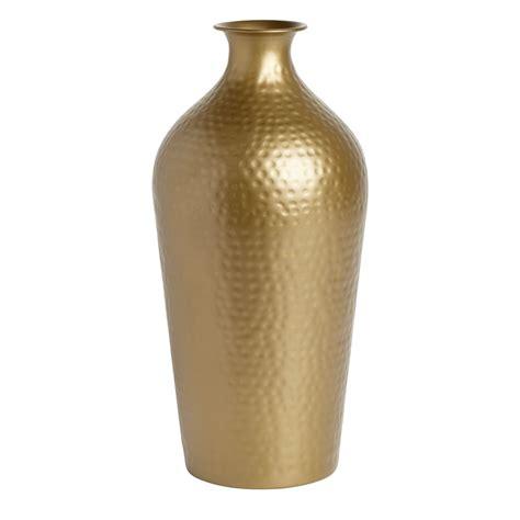 Gold Vase Wilko Hammered Large Gold Vase At Wilko